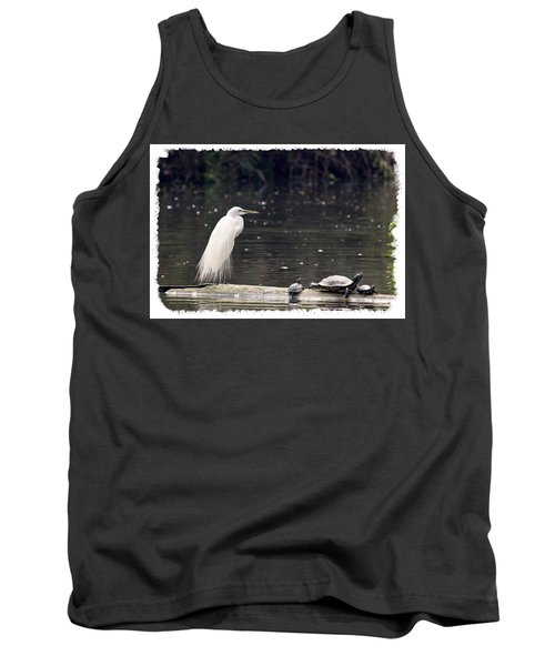 Egret And Turtles Tank Top