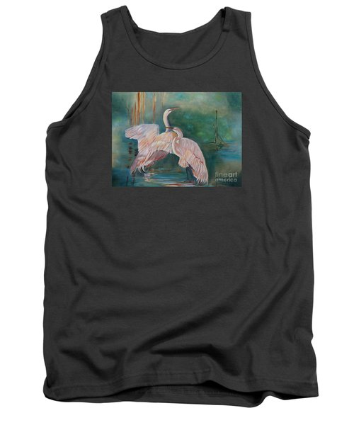 Egrets In The Mist Tank Top by Jenny Lee