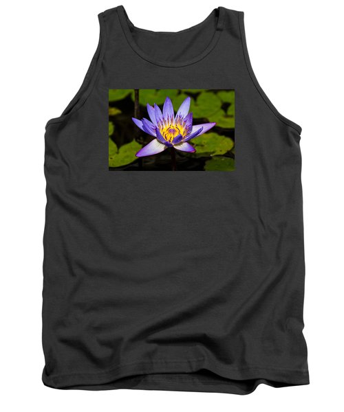Egyptian Blue Water Lily  Tank Top by Scott Carruthers