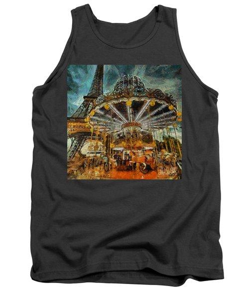 Eiffel Tower Carousel Tank Top