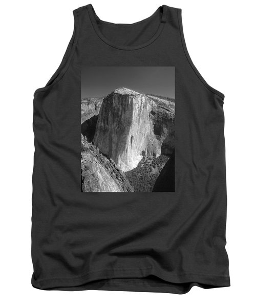 106663-el Capitan From Higher Cathedral Spire, Bw Tank Top