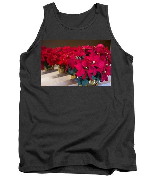 Elegant Poinsettias Tank Top