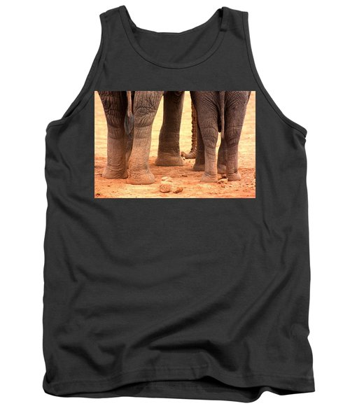 Tank Top featuring the photograph Elephant Family by Amanda Stadther