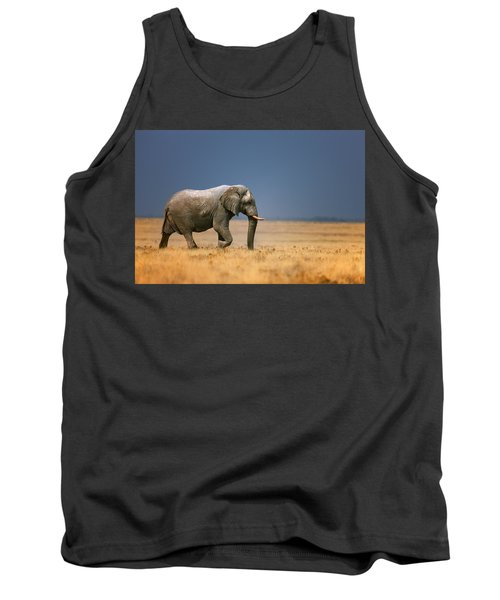 Elephant In Grassfield Tank Top