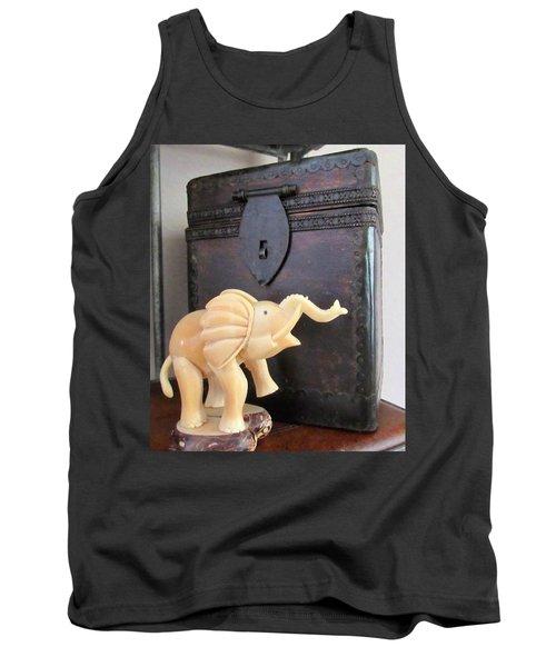 Elephant With Elephant Box Tank Top