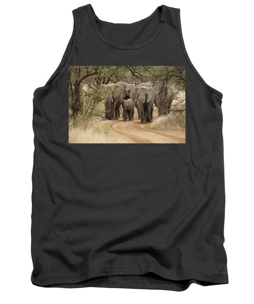 Elephants Have The Right Of Way Tank Top
