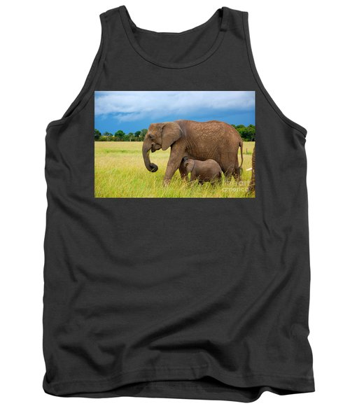 Elephants In Masai Mara Tank Top