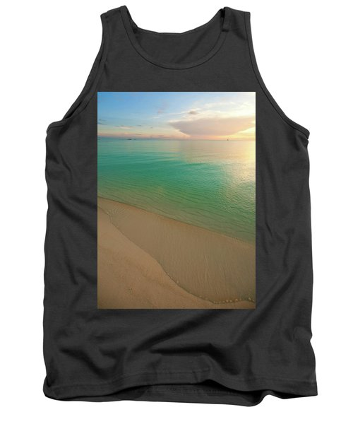 Elevated View Of Beach At Sunset, Great Tank Top
