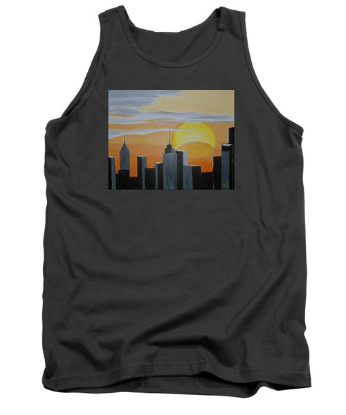 Elipse At Sunrise Tank Top by Donna Blossom