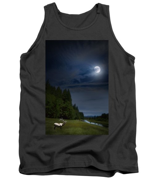 Elk Under A Full Moon Tank Top