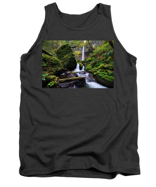Tank Top featuring the photograph Elowah Falls by Dustin  LeFevre