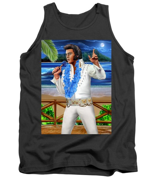 Elvis The Legend Tank Top by Glenn Holbrook
