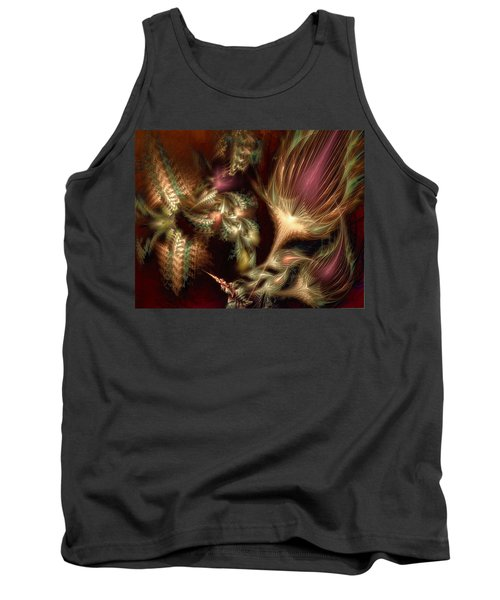 Tank Top featuring the digital art Elysian by Casey Kotas
