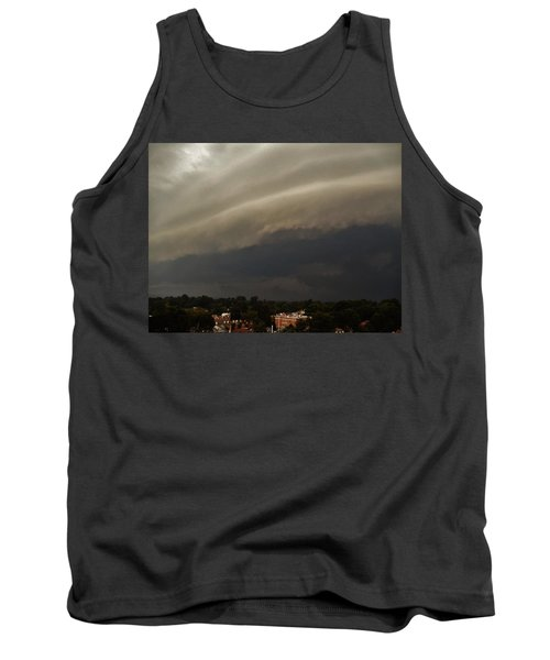 Tank Top featuring the photograph Encroaching Shelf Cloud by Ed Sweeney