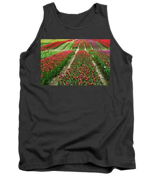 Endless Waves Of Tulips Tank Top