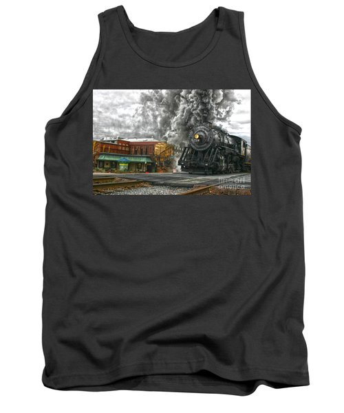 Engine 734 On The Western Maryland Scenic Railroad  Tank Top by Jeannette Hunt