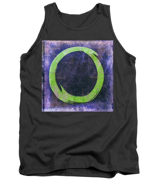 Enso No. 108 Green On Purple Tank Top