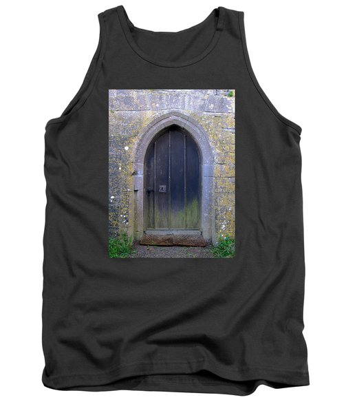 Tank Top featuring the photograph Enter At Your Own Risk by Suzanne Oesterling