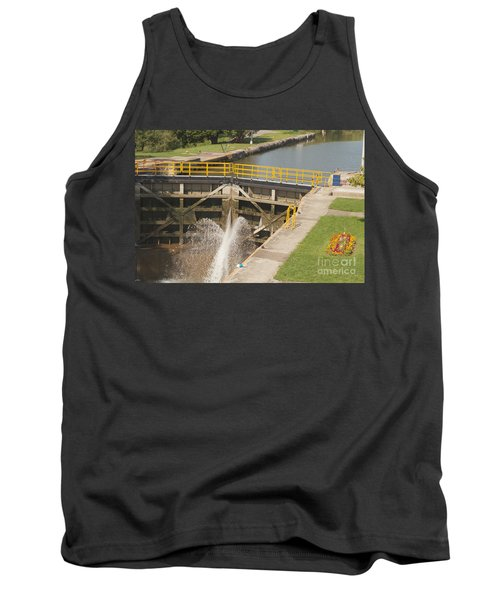 Tank Top featuring the photograph Erie Canal Lock by William Norton
