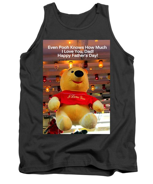 Even Pooh Knows Card Tank Top