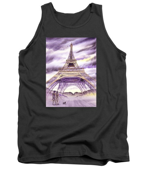 Evening In Paris A Walk To The Eiffel Tower Tank Top