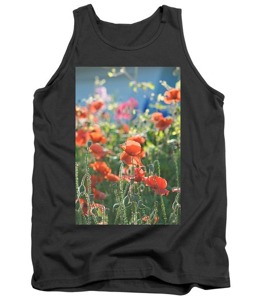 Evening Lights The Poppies Tank Top