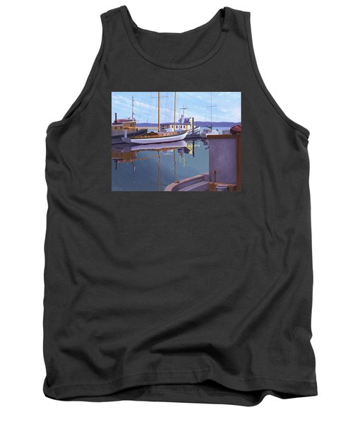 Evening On Malaspina Strait Tank Top by Gary Giacomelli