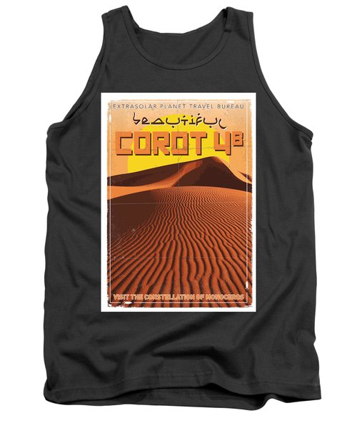 Exoplanet 05 Travel Poster Corot 4 Tank Top
