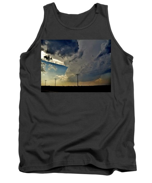 Explosive Texas Supercell Tank Top by Ed Sweeney