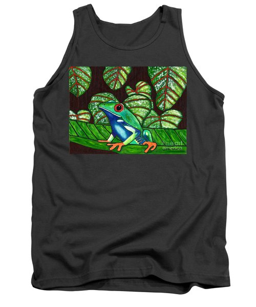 Tank Top featuring the painting Eye On You by Laura Forde