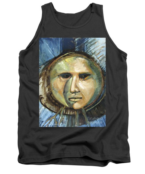 Faced With Blue Tank Top