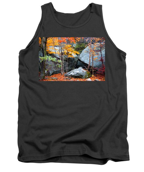 Tank Top featuring the photograph Fall Among The Rocks by Bill Howard