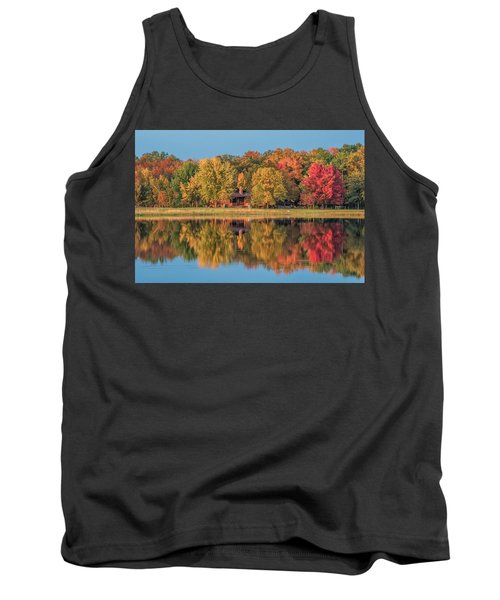 Fall Colors In Cabin Country Tank Top