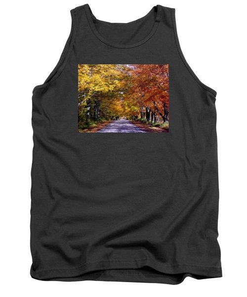Fall Colors Near Sister Bay Tank Top by David T  Wilkinson