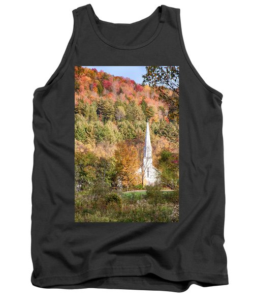 Fall Colors Over Vermont Church Tank Top