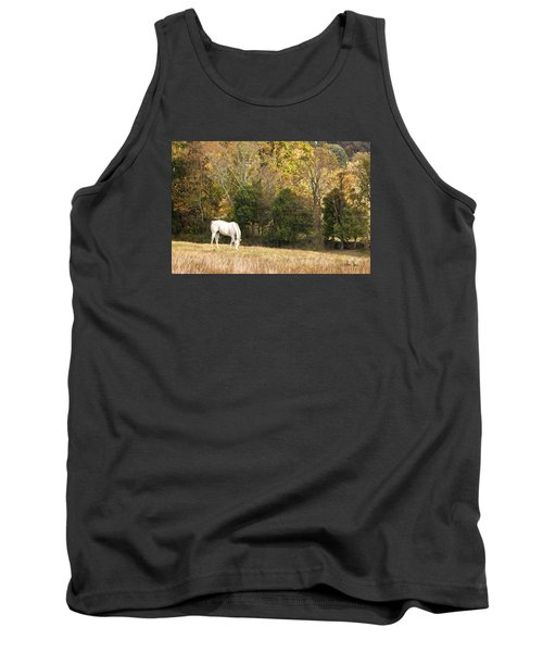 Tank Top featuring the photograph Fall Grazing by Joan Davis