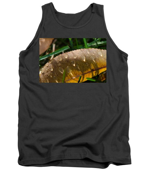 Fall Morning Leaf And Dew Tank Top