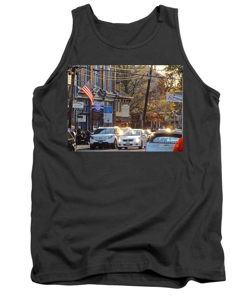Fall On Bridge Tank Top