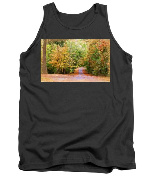 Tank Top featuring the photograph Fall Pathway by Judy Vincent