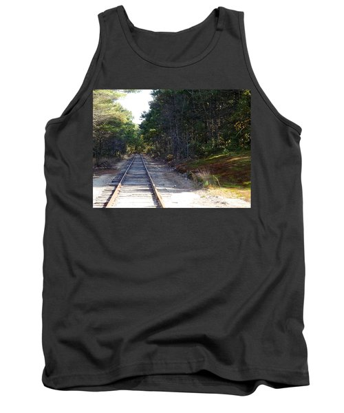 Fall Railroad Track To Somewhere Tank Top