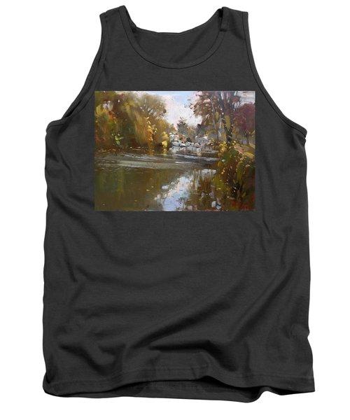 Fall Reflections At North Tonawanda Canal Tank Top