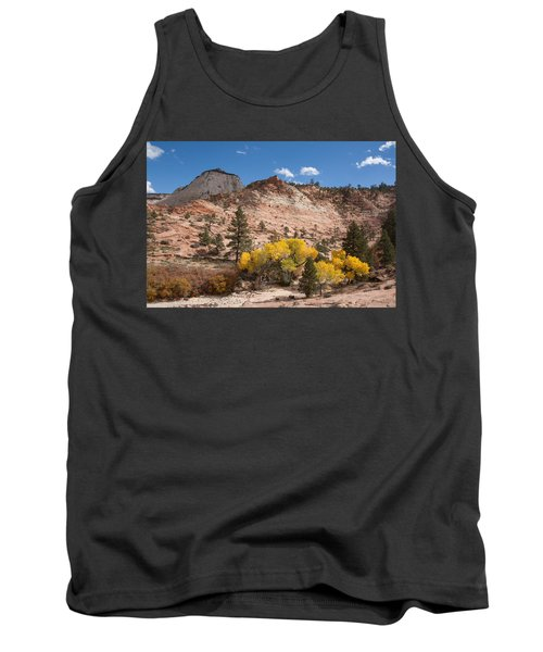 Tank Top featuring the photograph Fall Season At Zion National Park by John M Bailey