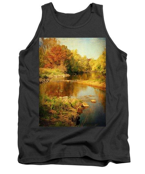 Fall Time At Rum River Tank Top