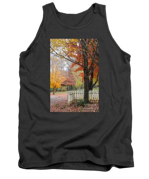 Fall Tranquility Tank Top by Debbie Green