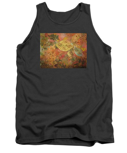 Tank Top featuring the painting Fallen Leaves II by Ellen Levinson