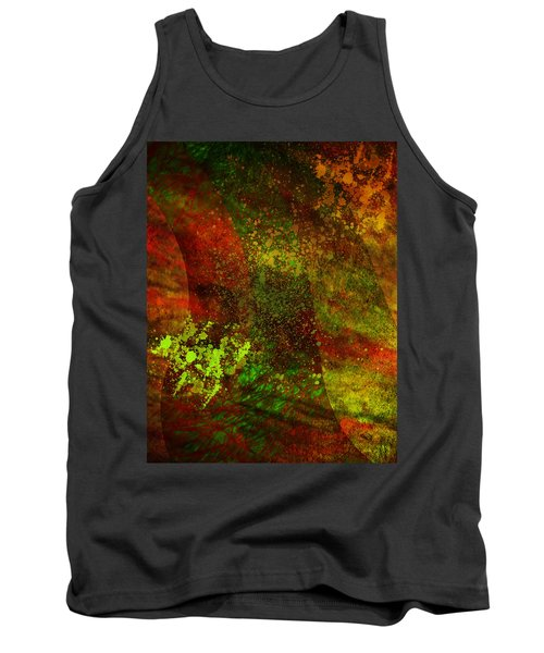 Tank Top featuring the mixed media Fallen Seasons by Ally  White