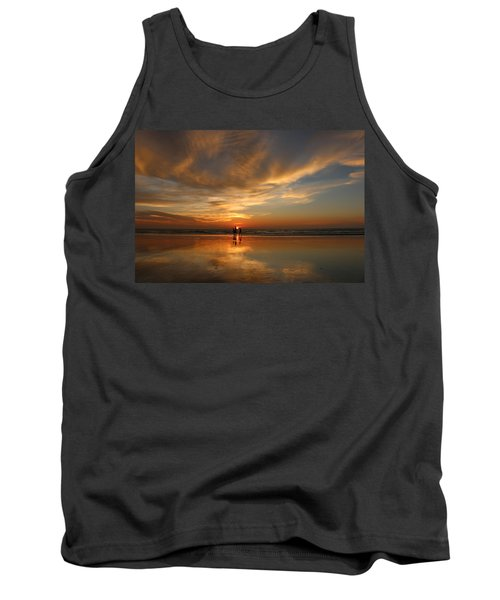 Family Reflections At Sunset - 2 Tank Top