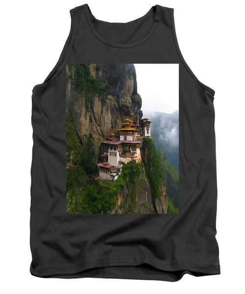 Famous Tigers Nest Monastery Of Bhutan Tank Top by Lanjee Chee