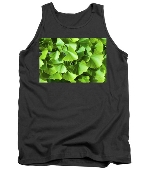 Fan Shaped Leaves Tank Top