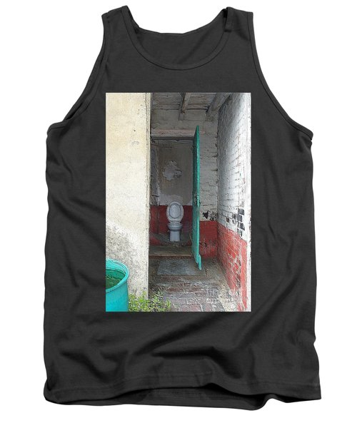 Tank Top featuring the photograph Farm Facilities by HEVi FineArt